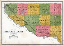 Sherburne County Map, Sherburne County 1914